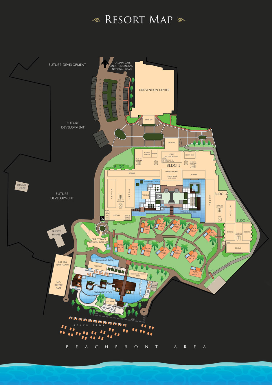 Henann Resort Alona Beach Bohol Resort Map